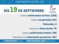 Parte nocturno Covid-19 General Alvarado 19/09/2020