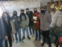 Producción de bloques de cemento en Miramar